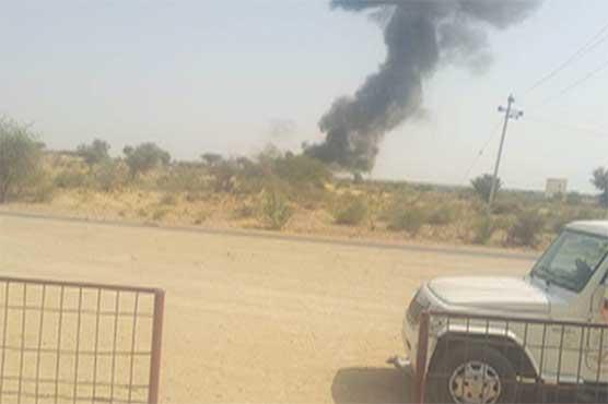 راجستھان: بھارت کا لڑاکا مگ 21 طیارہ گر کر تباہ، پائلٹ محفوظ
