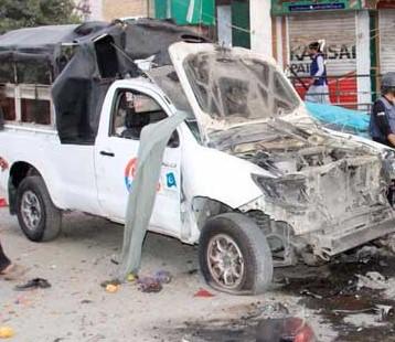 کوئٹہ تھانہ سٹی کے قریب دھماکہ 4 افراد جان بحق 28 افراد زخمی