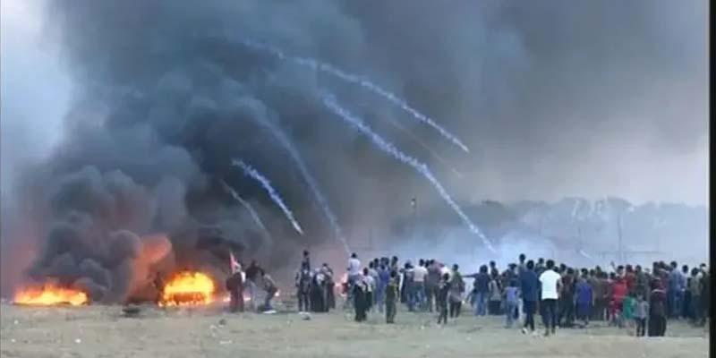 حق واپسی ریلی پر اسرائیلی فوجیوں کی فائرنگ 55 فلسطینی زخمی