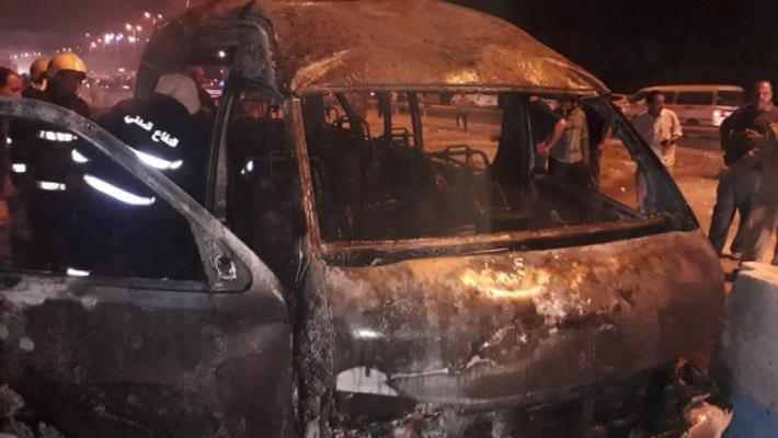 کربلا کے قریب  بس میں دھماکا، 12 افراد جاں بحق
