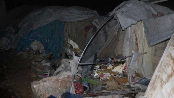 شام: ادلب مہاجر کیمپوں پر حملہ، 12 شہری ہلاک، 40 زخمی