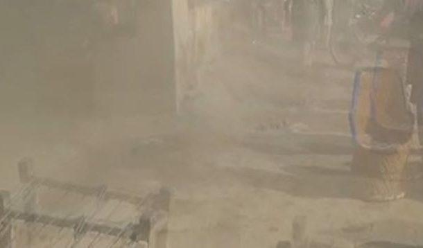 سوئی کے بازار میں واقع پنکچر کی دکان میں رکھا گیس کمپریسر دھماکے سے پھٹ گیا