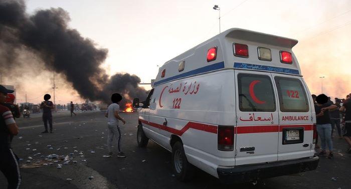 مظاہروں میں پیرا میڈیکل عملے کو بھی حراست میں لیا گیا : عراقی انسانی حقوق کمیشن
