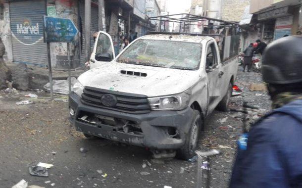 کوئٹہ میں ایف سی کی گاڑی کے قریب دھماکہ،2افراد جاں بحق اور18زخمی
