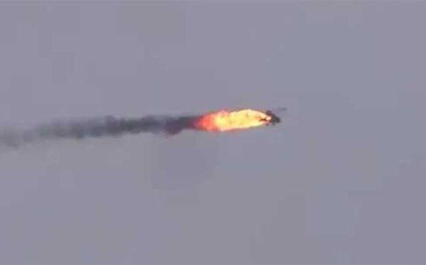 ادلب میں ترک حمایت یافتہ باغیوں نے شامی فوج کا ہیلی کاپٹر مار گرایاویڈیو جاری