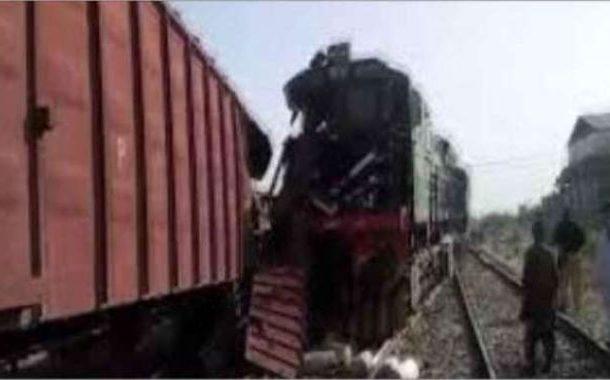 خان پور میں شالیمار ایکسپریس اور ڈاؤن سائیڈ کی مال گاڑی ٹکرا گئی