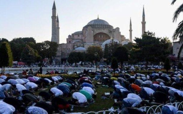 جامع مسجد آیاصوفیہ میں 86 سال کے بعد عیدالاضحیٰ کی پہلی نماز