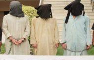 پشاور : داعش کے 3 انتہائی مطلوب دہشتگرد گرفتار
