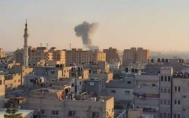 صہیونی فوج کے جنگی طیاروںنے غزہ کی پٹی پر پانچ میزائل داغے