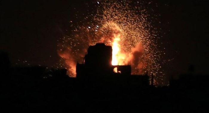 اسرائیلی فوج کے حماس کے اڈوں پر فضائی حملے