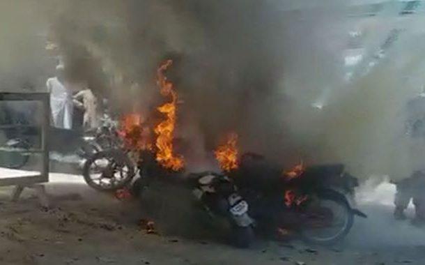 کوئٹہ: سریاب روڈ پر موٹرسائیکل میں دھماکے سے 4 افراد زخمی ہوگئے