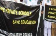 پرائیویٹ ایجوکیشن کونسل (پیک)کے زیر اہتمام  صوبائی اسمبلی کے سامنے تعلیم بچاؤ دھرنا
