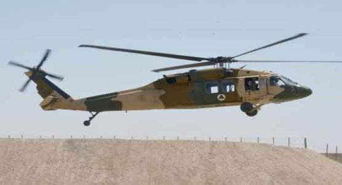 افغانستان کے صوبے ہلمند میں ملٹری ہیلی کاپٹر گر کر تباہ